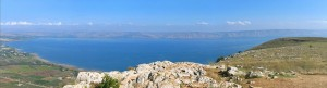 View of Sea of Galileee from Mt. Arbel