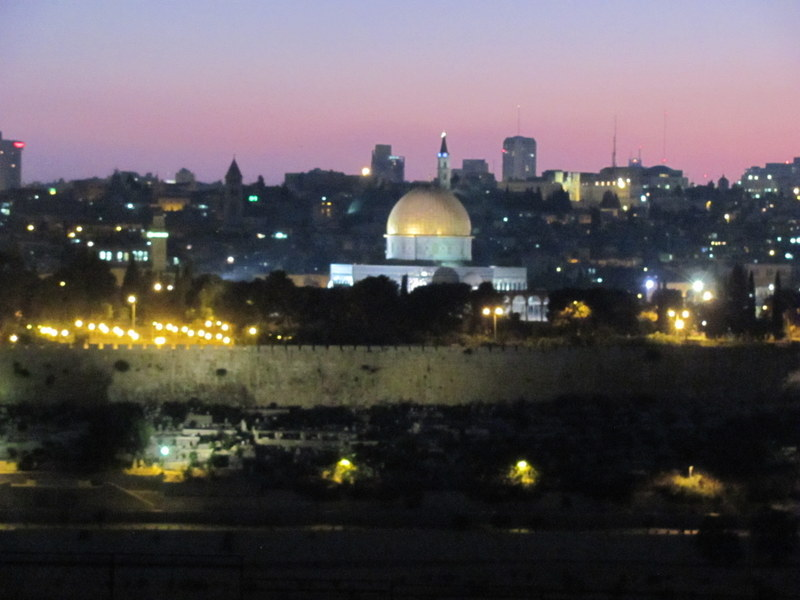 Dome of the Rock, evening