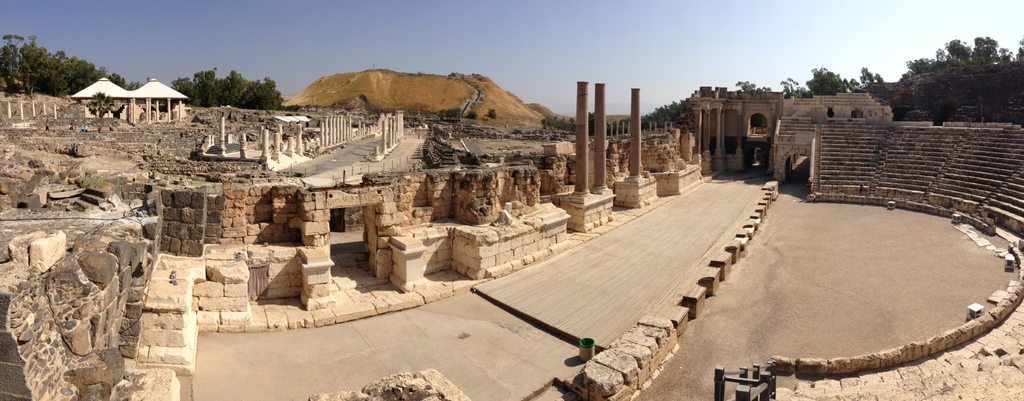 Bethshean -Theater and ruins