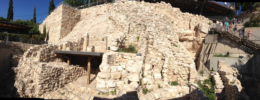 City of David - Area G excavation area