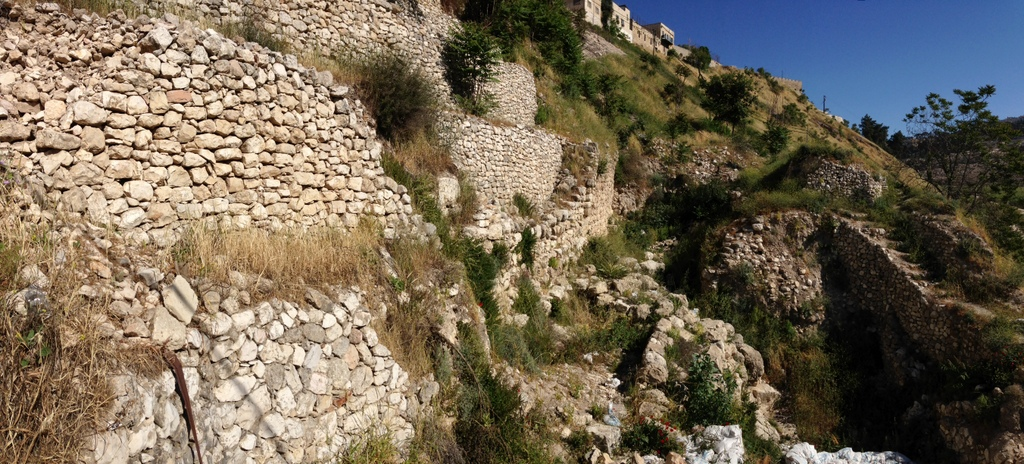 City of David - Jebusite wall (on eastern slope)