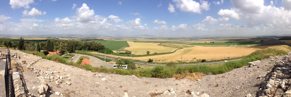 Jezreel Valley - from Megiddo
