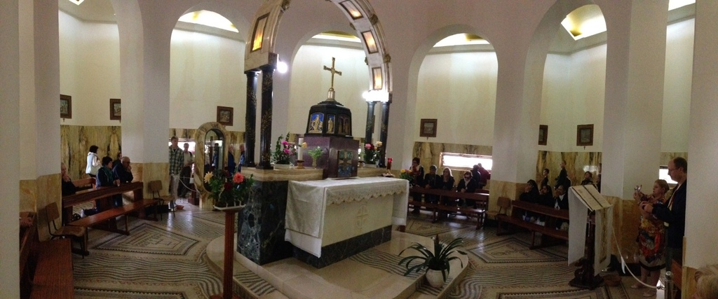 Mt of Beatitudes - Inside Catholic church