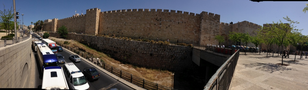 Old City - Walls outside Jaffa Gate
