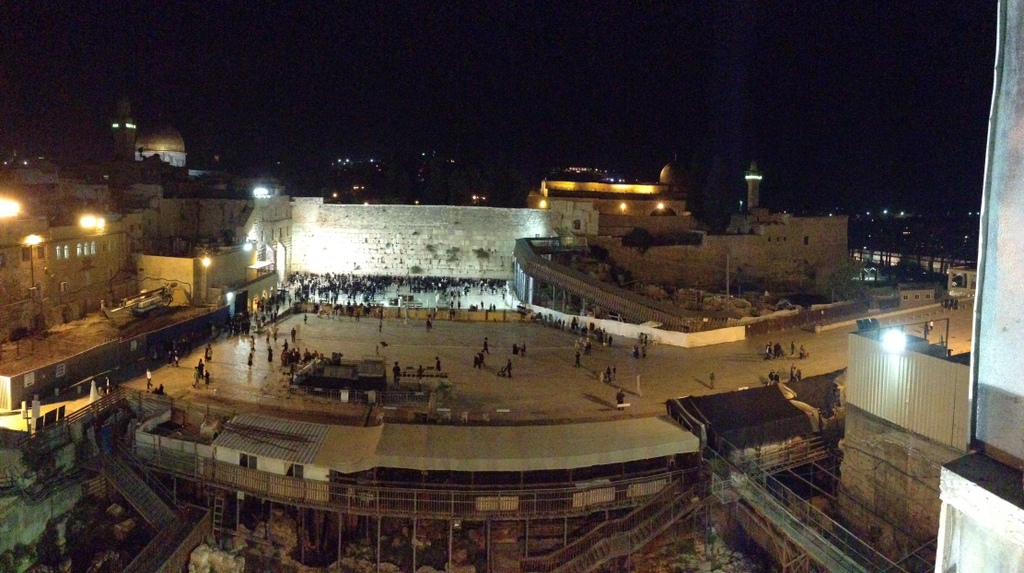 Old City - Western Wall at night