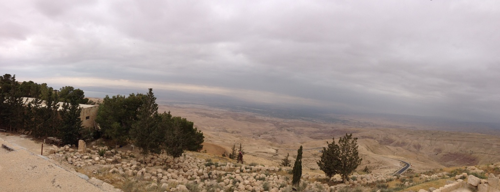 Jordan - Mt Nebo western view of Dead Sea, Jericho