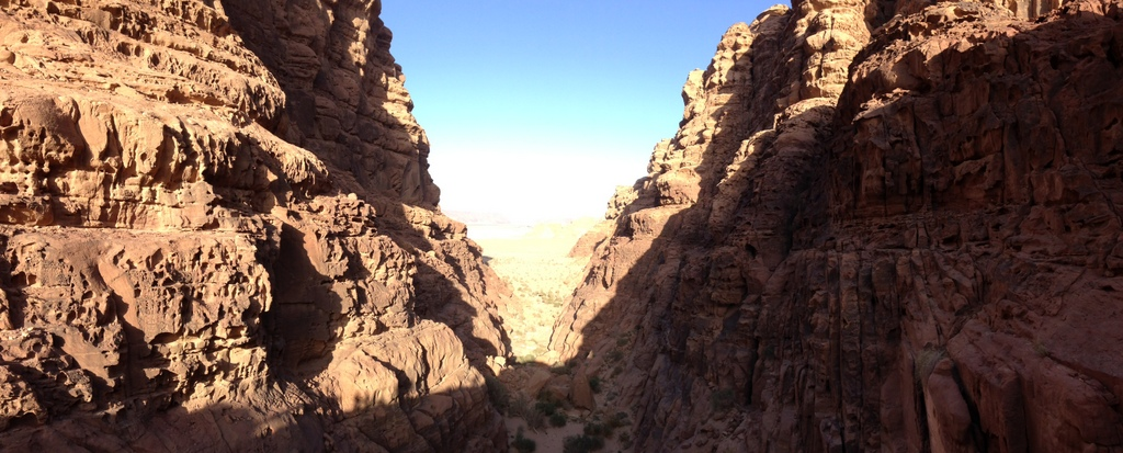 Jordan  - Wadi Rum canyon
