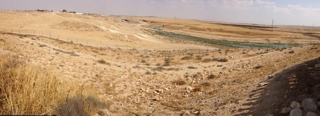 Beersheba - Dry river bed - (Wadi)