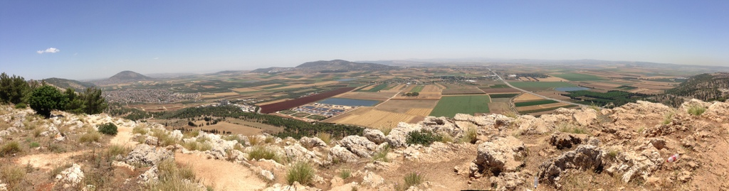 Jezreel Valley - From Nazareth precipice