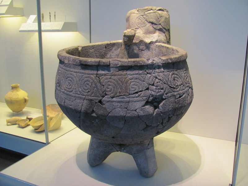 Cultic Statue with Basin, Hazor, 15th-13th Century BC