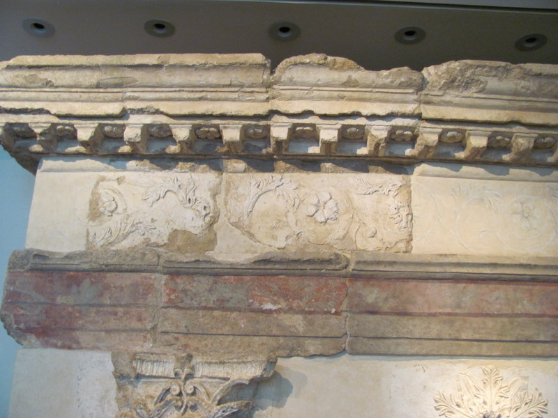 Architectural elements from Roman shrine, Omrit, 1st Century BC