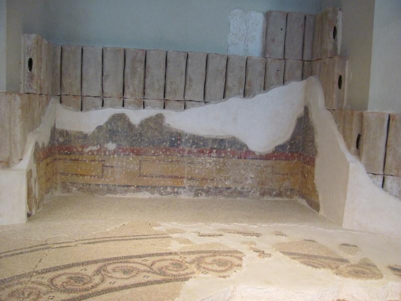 Bathhouse, Herodium, Fresco technique, 1st Century BC