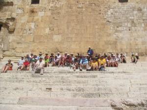 Sitting on the Temple Steps, Jerusalem