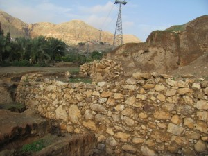 Jericho's retaining walls