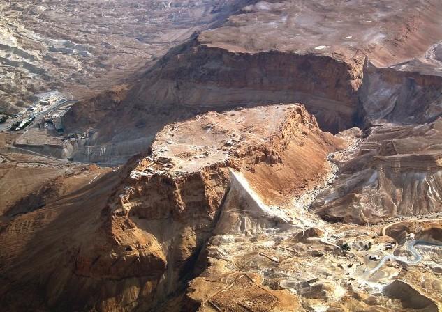 Masada aerial from nw, tb010703306