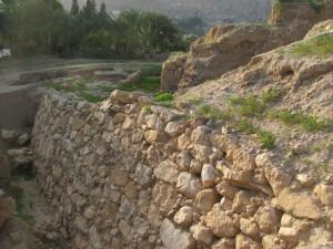 Jericho's retaining wall