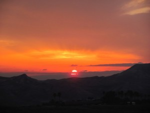 Sunrise in the Judean Desert