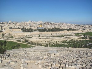 City of Jerusalem from the Mt. of Olives