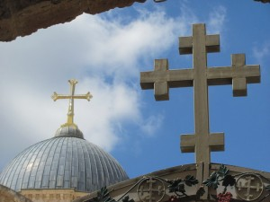The crosses of the Holy Sepulcher