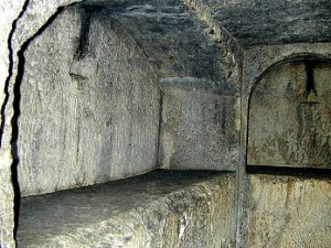 "An ""arcasolium"" tomb"