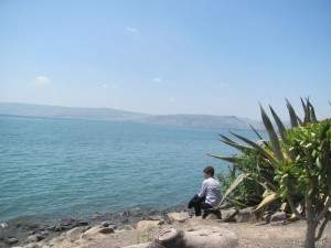 Reflection time by the Sea of Galilee