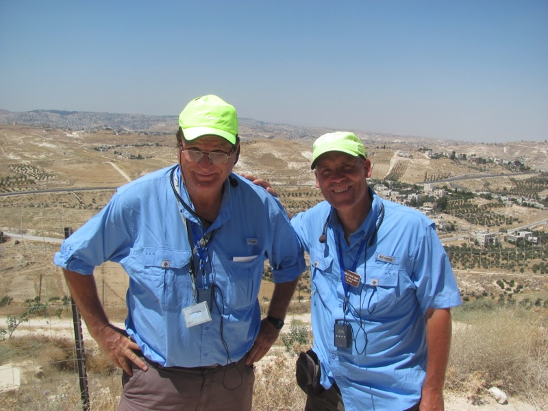 On top of Herodium with Shlomo, Israeli guide