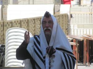 Ultra Orthodox man at Wall