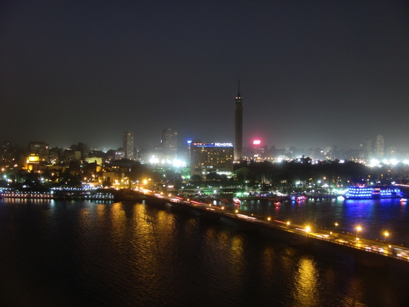 nile river at night cairo