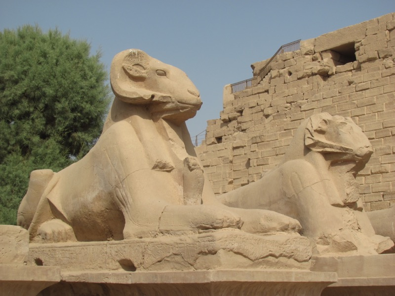 lion head karnak egypt