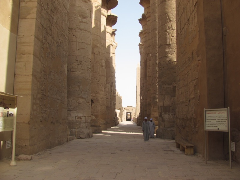 hall of pillars karnak egypt