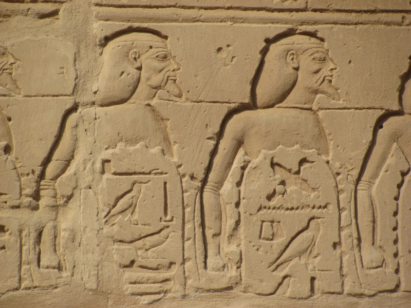 philistines on karnak temple