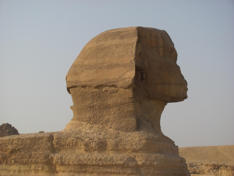 head of great sphinx giza