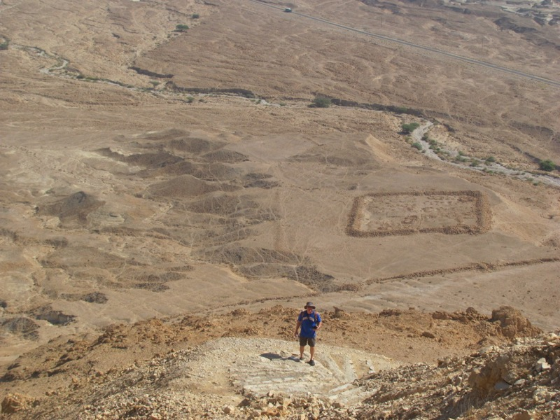 masada snake path roman camp
