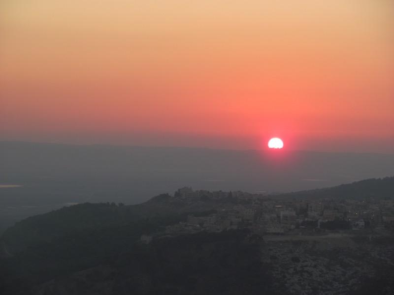 sunset over mt carmel