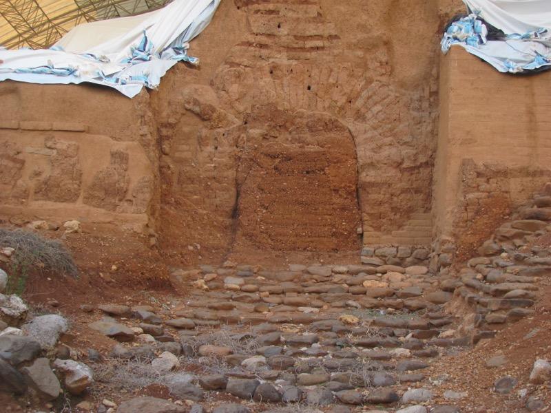 tel dan canaanite mud brick gate