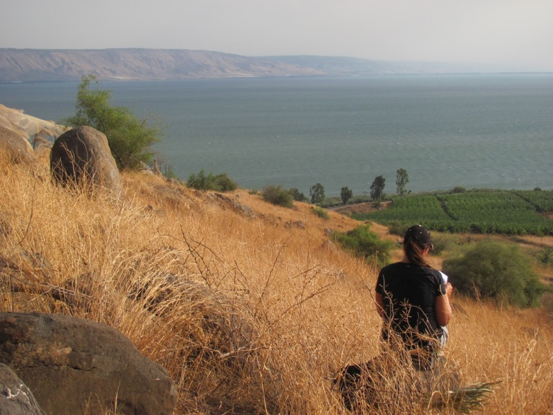 mt of beatitudes and sea of galilee