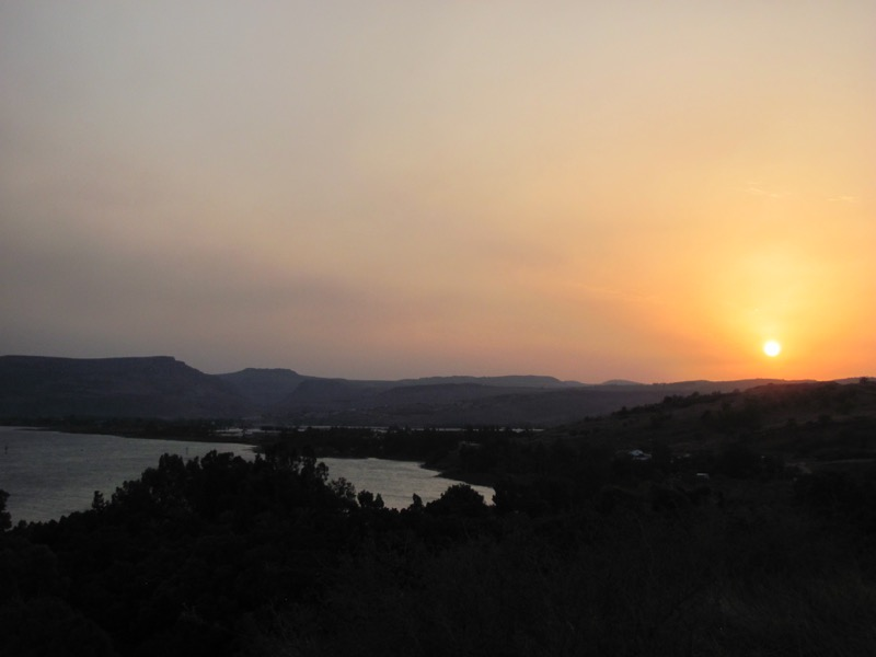 sea of galilee sunset