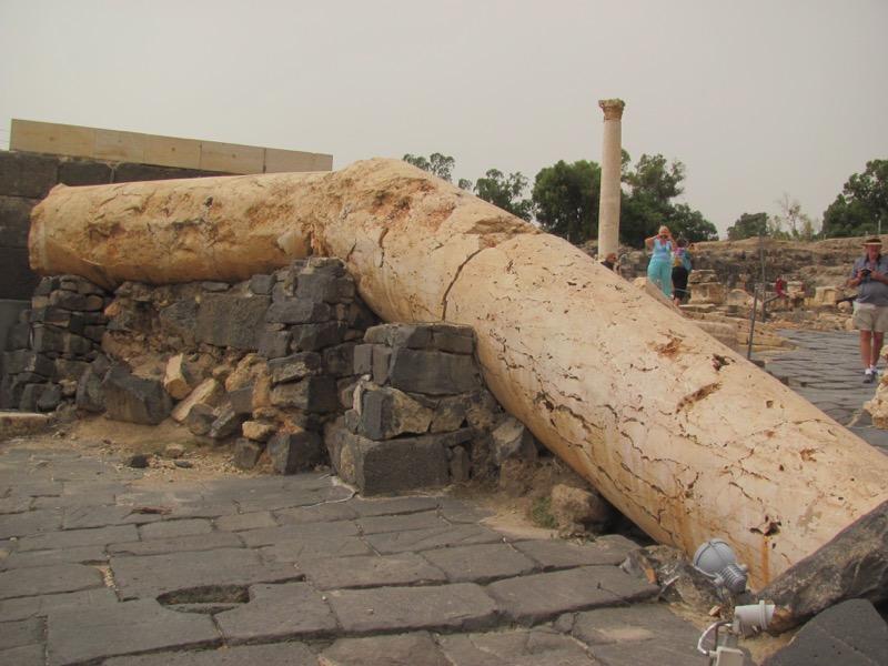 beth shean pillar 749 ad earthquake