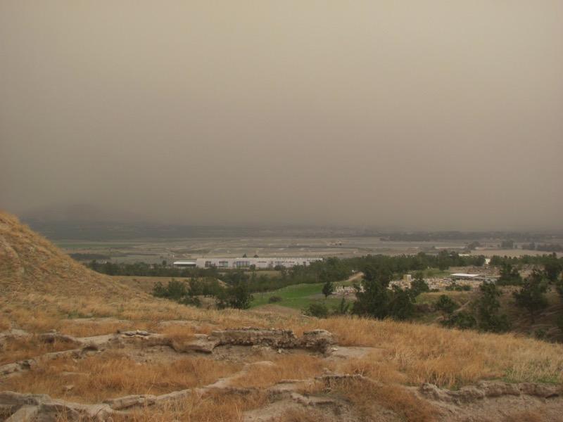 jordan valley from beth shean