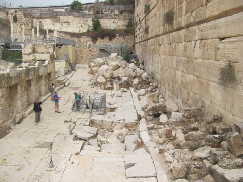 herodian street and stone jerusalem