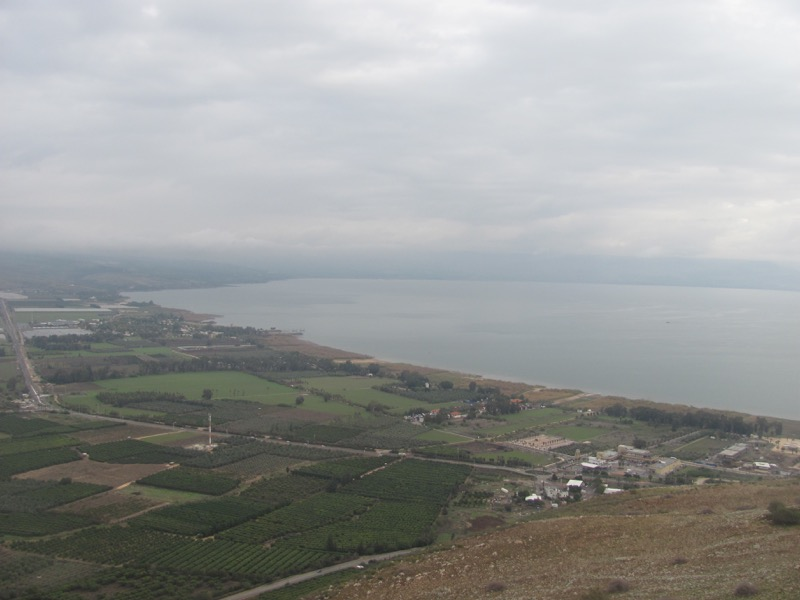 sea of galilee from arbel