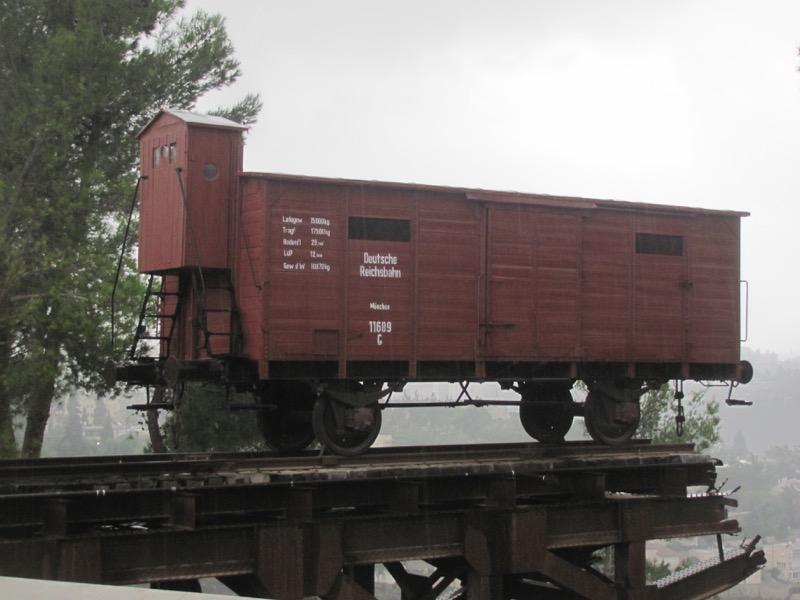 Yad Vashem box car train