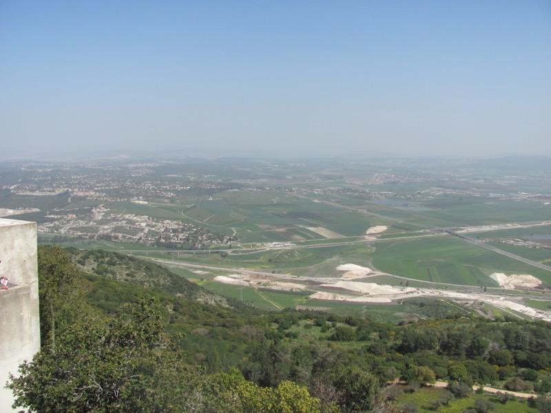 jezreel valley from mt carmel