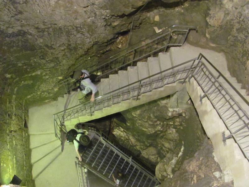 walking down steps water system megiddo