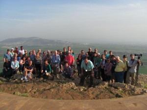 The group standing on the precipice of Nazareth