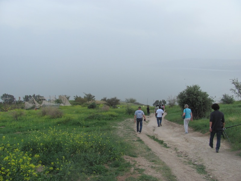 walk down path from mt of beatitudes