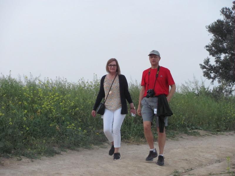 walking at mt of beatitudes