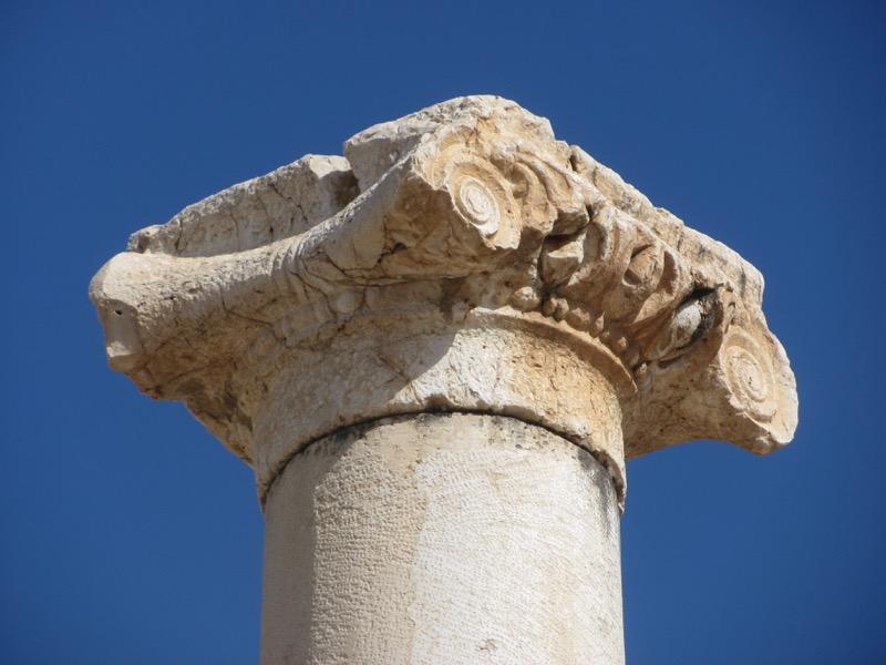 roman column at beth shean