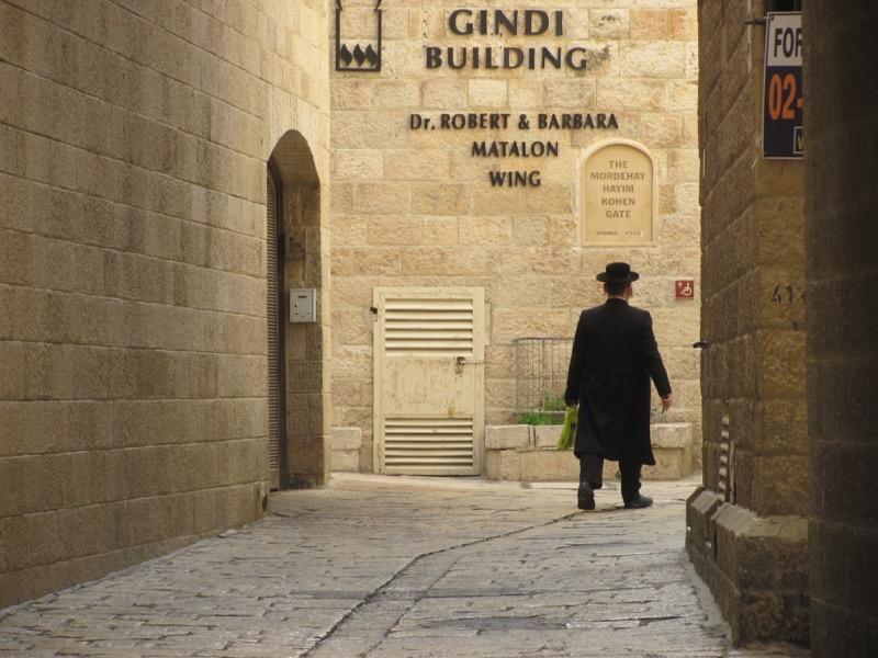 old orthodox man in jewish quarter