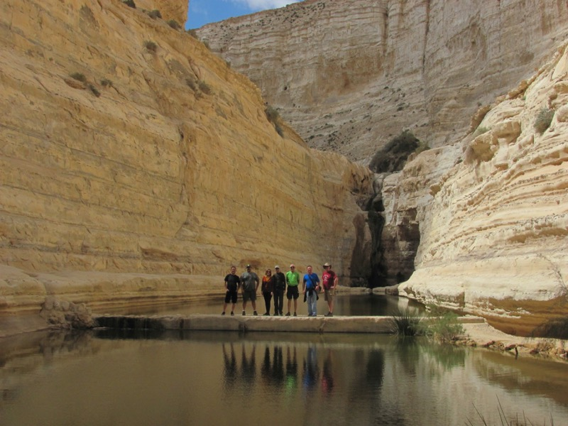 water falls at wadi zin israel
